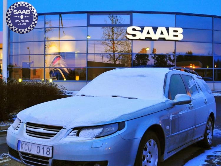 Saab 93ss in Winter